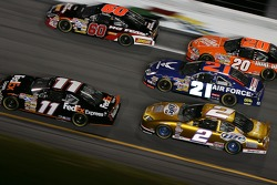 Denny Hamlin, Boris Said, Kurt Busch, Ken Schrader and Tony Stewart
