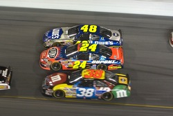 Jimmie Johnson, Jeff Gordon and David Gilliland