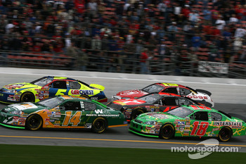 Sterling Marlin, Kyle Busch, J.J. Yeley, Juan Pablo Montoya and Elliott Sadler