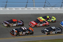 Denny Hamlin, Ricky Rudd, Clint Bowyer, Carl Edwards and Kyle Busch