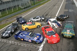 Photoshoot with the 2007 FIA-GT cars