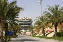 Bahrain circuit paddock