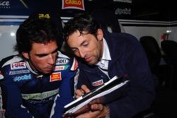Toni Elias and Fabrizio Cecchini