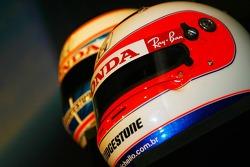 Rubens Barrichello, helmet