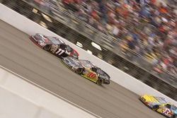 Denny Hamlin and Greg Biffle battle