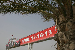 Advertising for the race, around the circuit