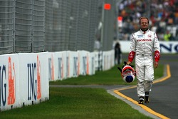 Rubens Barrichello, Honda Racing F1 Team, RA107, spun during the session
