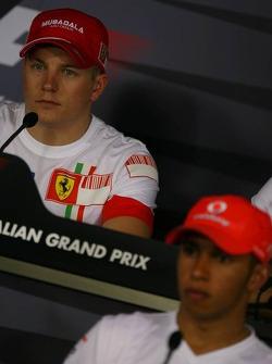 Kimi Raikkonen, Scuderia Ferrari and Lewis Hamilton, McLaren Mercedes