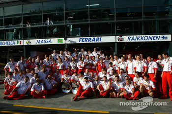 Ferrari Team shot after the race