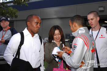 Lewis Hamilton, McLaren Mercedes and Anthony Hamilton, Father of Lewis Hamilton Lewis Hamilton, McLaren Mercedes