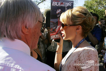 Bernie Ecclestone and Kylie Minogue, Australian pop-singer