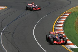 Lewis Hamilton, McLaren Mercedes, MP4-22 and Fernando Alonso, McLaren Mercedes, MP4-22