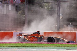Christijan Albers, Spyker F1 Team, F8-VII, crashed out