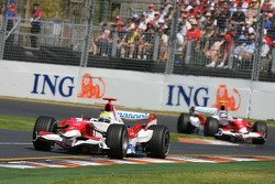 Ralf Schumacher, Toyota Racing, TF107 leads Jarno Trulli, Toyota Racing, TF107