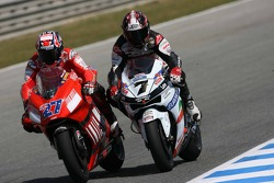 Casey Stoner and Carlos Checa