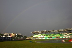 Rainbow over Sepang Circuit