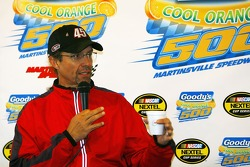 Kyle Petty during a press conference