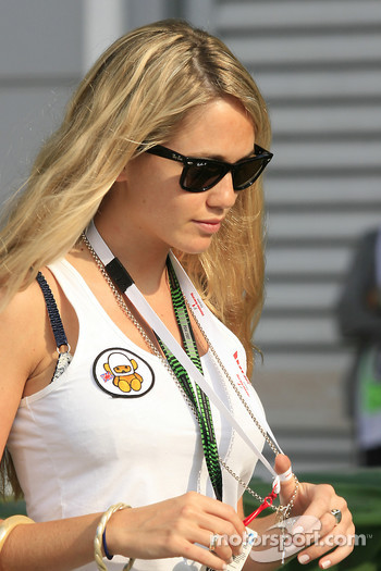 Florence Brudenell, Girlfriend of Jenson Button