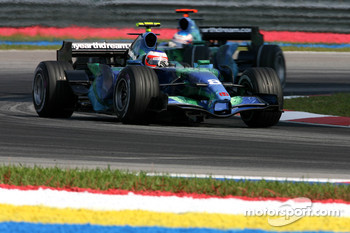 Rubens Barrichello, Honda Racing F1 Team, RA107 and Jenson Button, Honda Racing F1 Team, RA107