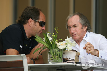 Gerhard Berger, Scuderia Toro Rosso, 50% Team Co Owner and Sir Jackie Stewart
