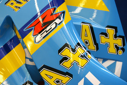 Close up of the Rizla+ Suzuki