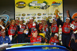 Victory lane: Jeff Gordon celebrates