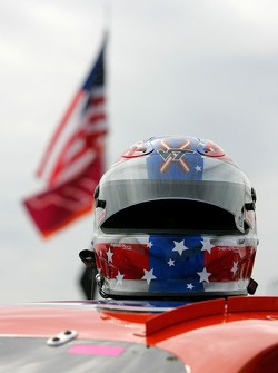 Helmet worn by Eric McClure