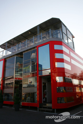 The new Ferrari motorhome which is now 3 stories high