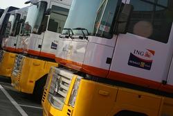 Renault F1 Team, trucks in the paddock