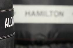 Lewis Hamilton, McLaren Mercedes, tyre warmers