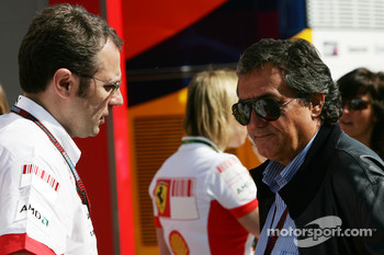 Stefano Domenicali, Scuderia Ferrari, Sporting Director and Giancarlo Minardi