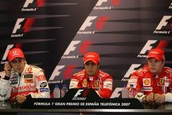 FIA press conference: Fernando Alonso, McLaren Mercedes, Felipe Massa, Scuderia Ferrari, Kimi Raikkonen, Scuderia Ferrari