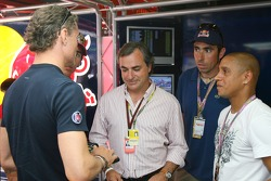 David Coulthard, Red Bull Racing, Carlos Sainz, Ex WRC World Champion, Nani Roma, Dakar Rally winner, and Roberto Carlos, Real Madrid, Football Player