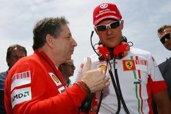 Michael Schumacher, Scuderia Ferrari, Advisor, on the grid with Jean Todt, Scuderia Ferrari, Ferrari CEO