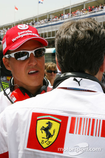 Michael Schumacher, Scuderia Ferrari, Advisor, on the grid
