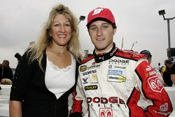 Kasey Kahne poses for a photo with his mom, Tammy Kahne