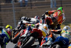 Turn 2 of the Sunday's Supersport race at Infineon Raceway