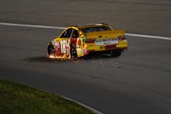 Erik Jones, Joe Gibbs Racing Toyota in trouble