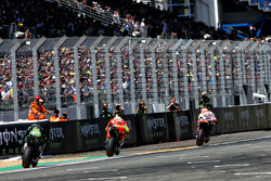 Marc Marquez, Repsol Honda Team and Andrea Iannone, Ducati Team and Bradley Smith, Tech 3 Yamaha