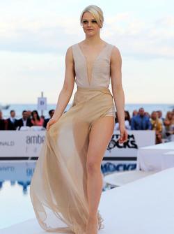 Emilia Pikkarainen, girlfriend of Valtteri Bottas, Williams, at the Amber Lounge Fashion Show