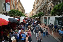 Fans in a street