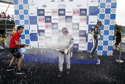Race 3 Podium: winner Felix Rosenqvist, Prema Powerteam and third place Charles Leclerc, Van Amersfoort Racing