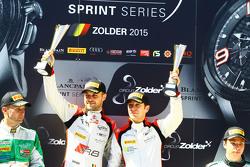 Podium: race winners Robin Frijns, Laurens Vanthoor