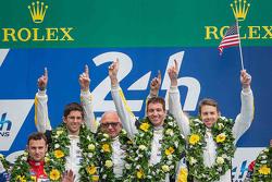 GTLM Pro podium: winners #64 Corvette Racing Corvette C7.R: Jordan Taylor, Oliver Gavin, Tommy Milner