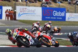 Andrea Iannone, Ducati Team and Dani Pedrosa, Repsol Honda Team and Scott Redding, Marc VDS Racing Honda