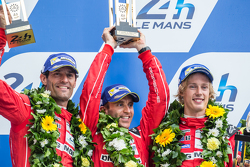 LMP1 podium: second place Porsche Team: Timo Bernhard, Mark Webber, Brendon Hartley