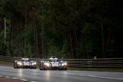 奥迪乔斯特车队9号奥迪R18 e-tron quattro赛车:瑞内·拉斯特、费利佩·奥布克奇、马克·博纳诺米