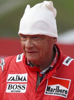 Niki Lauda, Mercedes Non-Executive Chairman at the Legends Parade