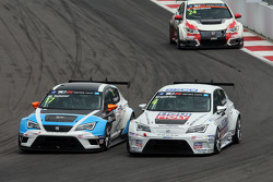 Michel Nykjaer, SEAT Leon, Target Competition, Tomas Engstrom, SEAT Leon, Liqui Moly Team Engstler y Kevin Gleason, Honda Civic TCR, West Coast Racing