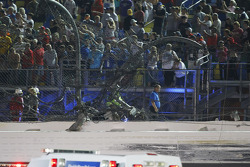 Hole in the Daytona International Speedway fence
